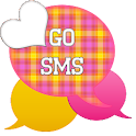 GO SMS - Pink Yellow Plaid 2 icon