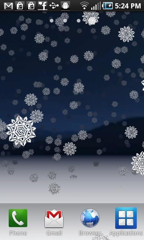 snowy night sky wallpaper images
