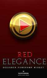 Poweramp Widget Red Elegance APK screenshot thumbnail 1