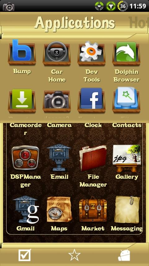 Vintage theme for ssLauncher - screenshot