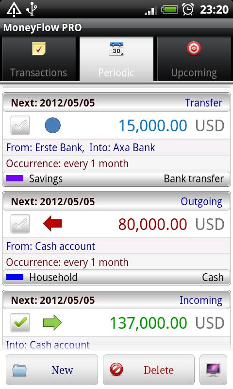 MoneyFlow Expense Manager - screenshot
