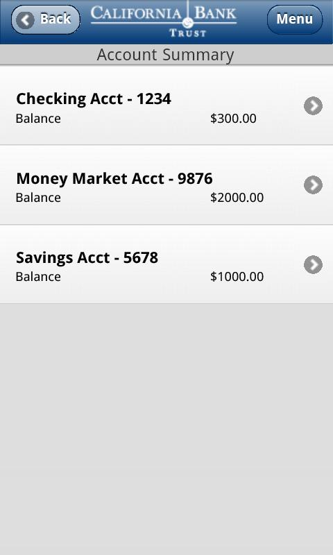 CBT Business Mobile Banking - screenshot