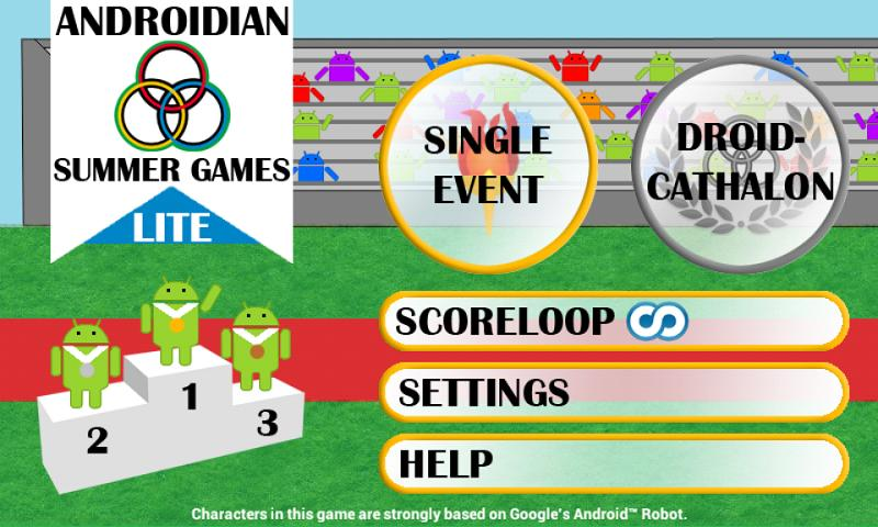 Androidian Summer Games Lite - screenshot