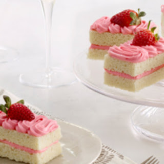Strawberry Champagne Cakes.