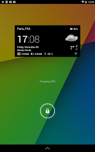 Transparent clock & weather - screenshot thumbnail