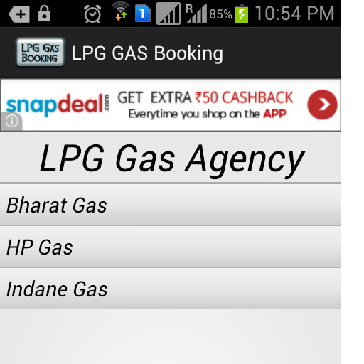 LPG Gas Booking