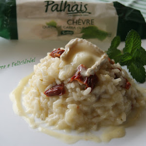 Sun-dried Tomato Risotto with Goat Cheese