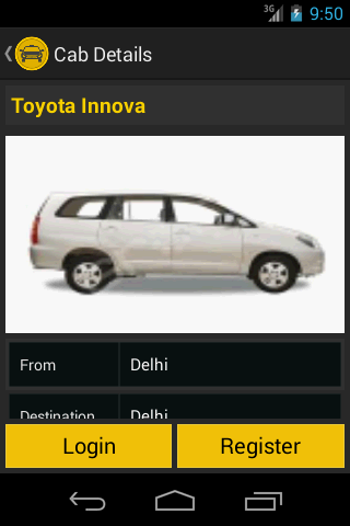 GetBookCab -Book Taxi In India- screenshot