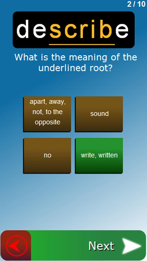 Vocable: Free Vocabulary Tutor - screenshot