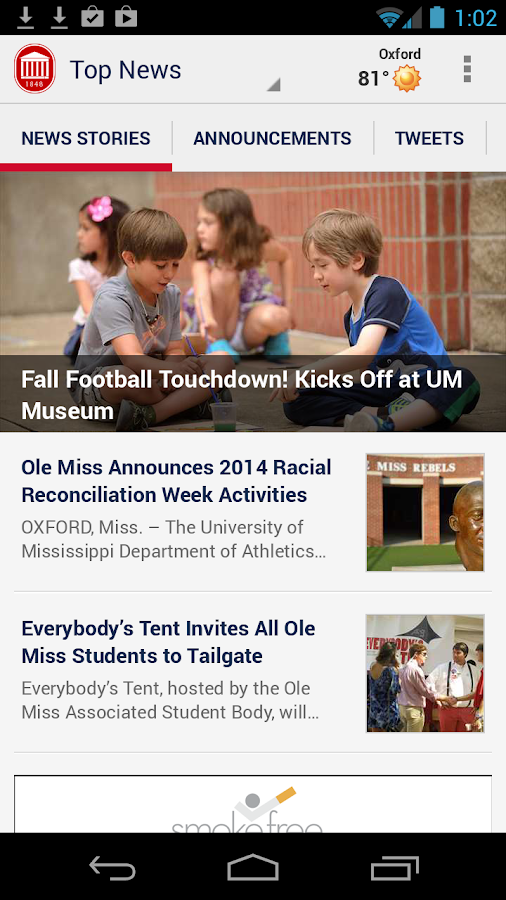 The Official Ole Miss App: captura de pantalla