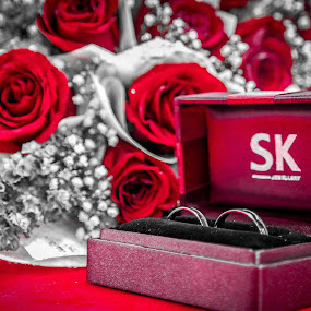 Ring With Red Rose by Eddy Tan - Wedding Other ( ring, rose, bridal, wedding, flower,  )