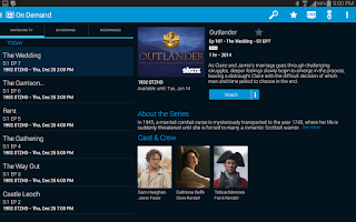 Screenshot of AT&T U-verse for Tablet