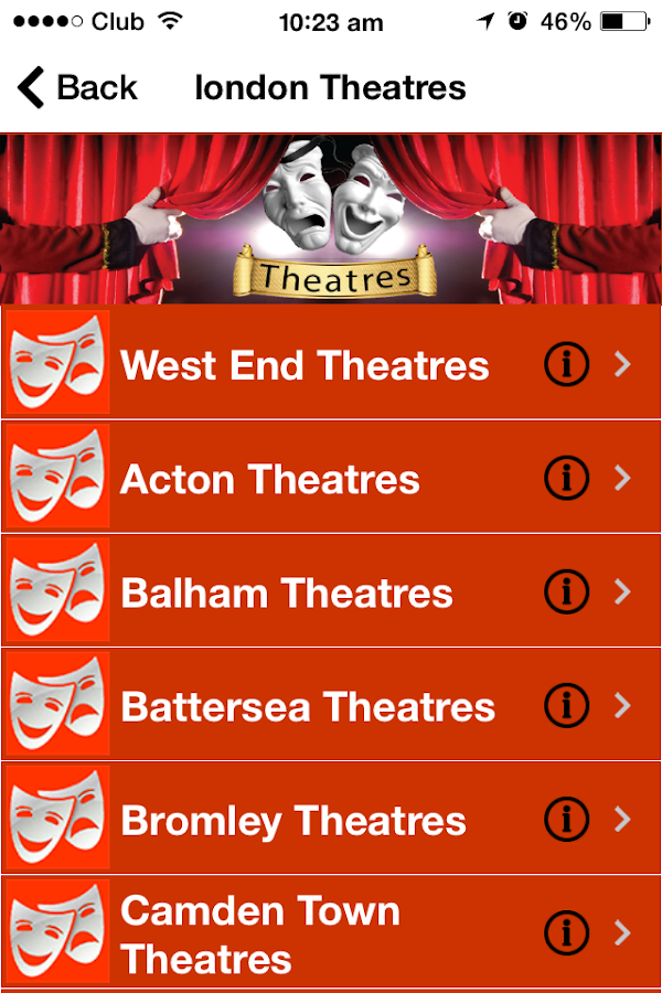 Theatres- screenshot