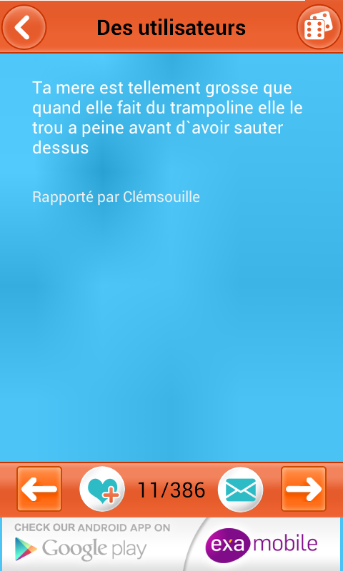 Blagues et Plaisanteries - screenshot