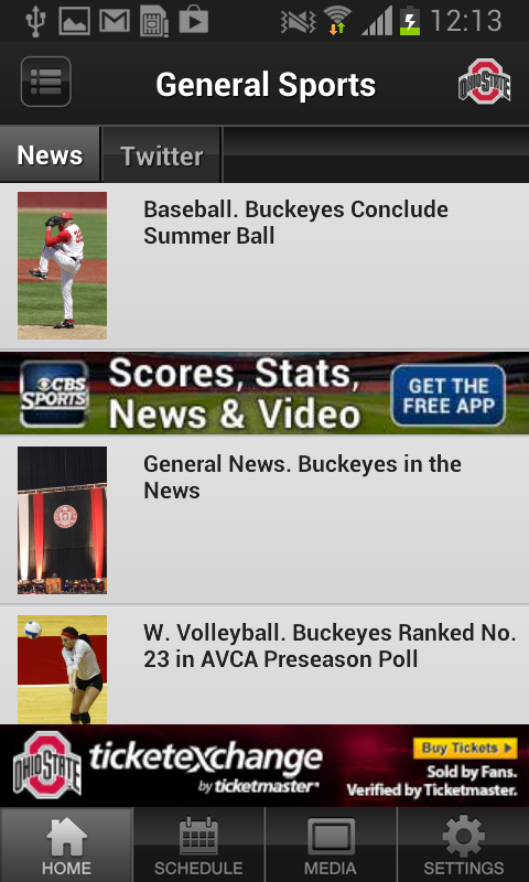 Ohio State Buckeyes Sports - screenshot