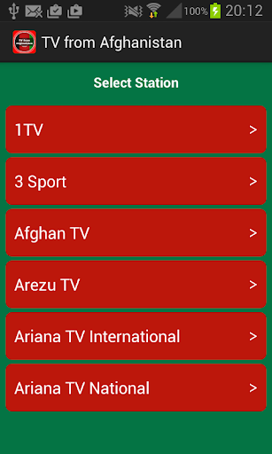 TV from Afghanistan