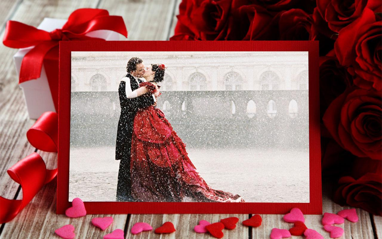 romantic photo frames screenshot