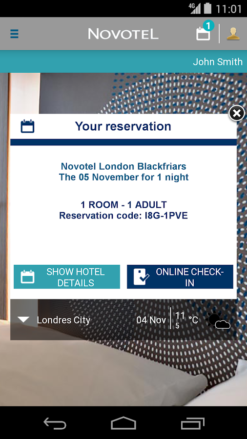 Novotel Hotels - screenshot