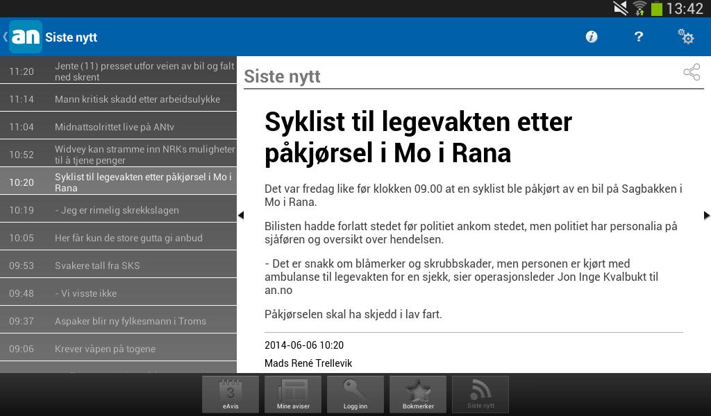 Avisa Nordland - screenshot