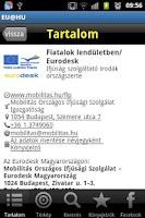 Screenshot of EU@HU