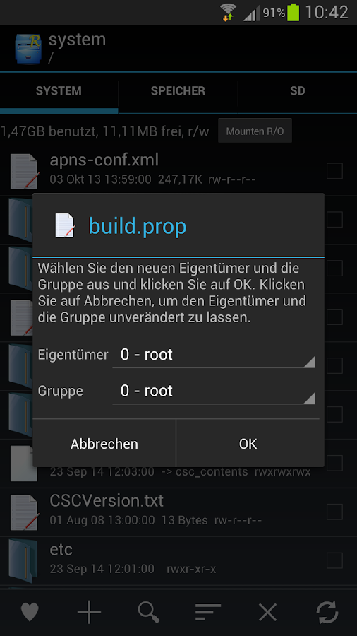 Root Explorer – Screenshot