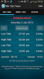 WA Tide Times - screenshot thumbnail