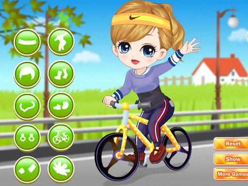 玩免費休閒APP|下載自行车游戏的女孩 app不用錢|硬是要APP