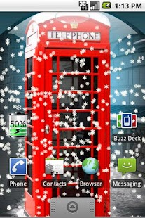 UK Snow Globe Live Wallpaper - screenshot thumbnail