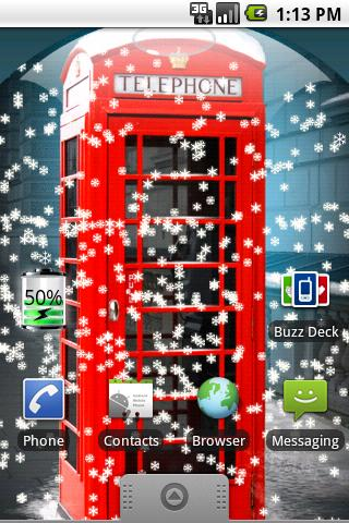UK Snow Globe Live Wallpaper - screenshot