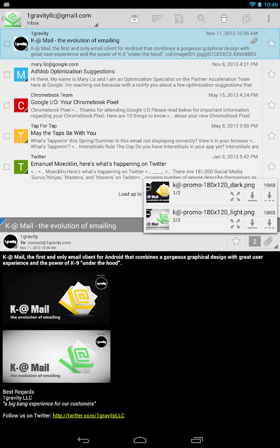 K-@ Mail Pro - email evolved - screenshot