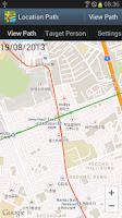 Screenshot of Location Path