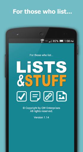 Lists and Stuff