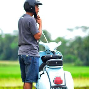 safety by Danang Kusumawardana - Transportation Other ( vespa, vintage, scooter )