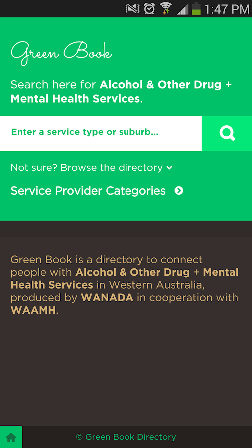 Green Book Directory - screenshot