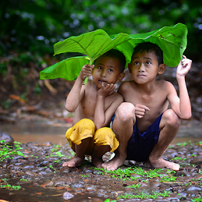 by Saiful El-Shyrazy - Babies & Children Child Portraits ( playing, two, taro, under, children, card, candid, baby, people )