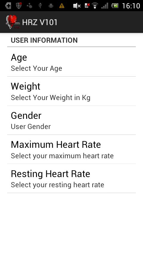 Heart Rate Zone- screenshot