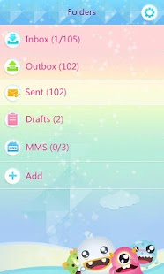 GO SMS Pro CuteMonster ThemeEX - screenshot thumbnail