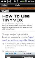 Screenshot of TinyVox · Infinite Tape Deck