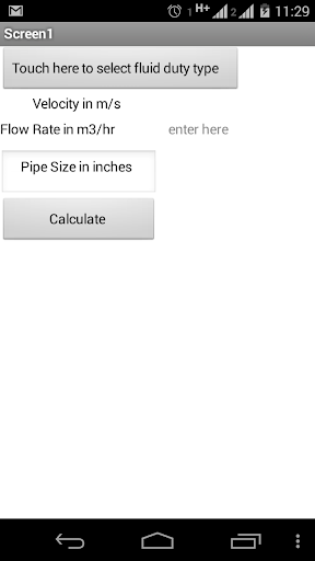 Pipe Sizing Calculator