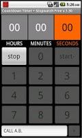 Screenshot of Countdown Timer + Stopwatch