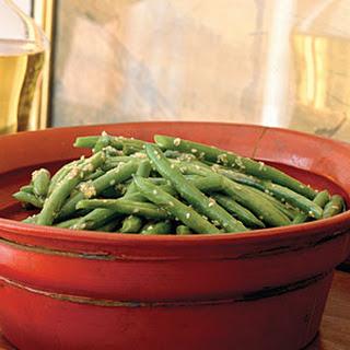 Sesame Green Beans.