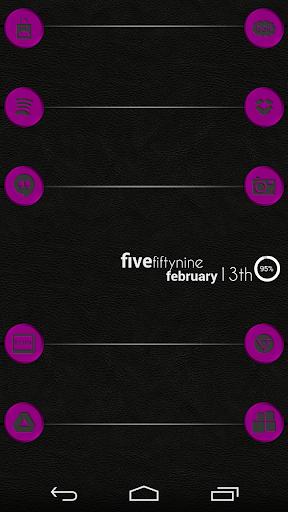 VM4 Purple Metallic Icon Set