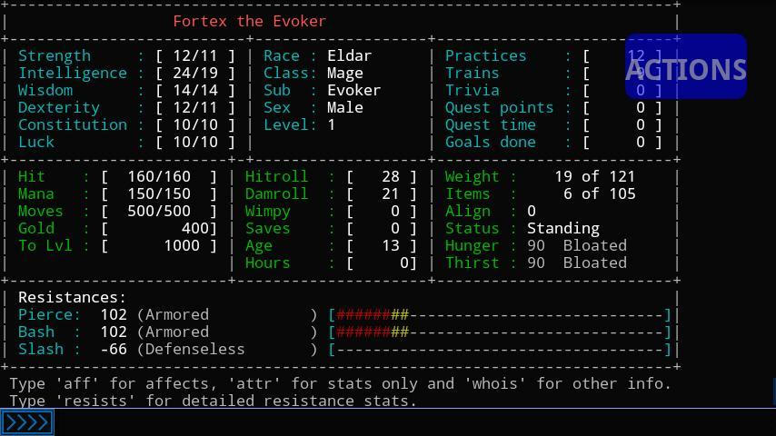 Aardwolf RPG - screenshot