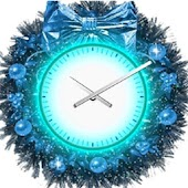 Wreath Christmas Clock