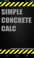 Screenshot of Simple Concrete Calculator