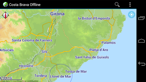 Offline Map Costa Brava Spain