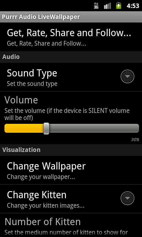 Purrr Audio LiveWallpaper LITE - screenshot