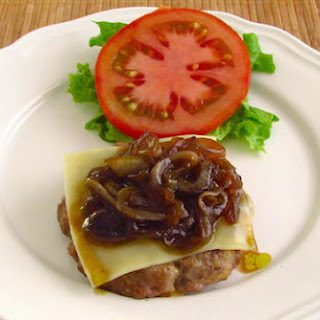Burger With Caramelized Onion.