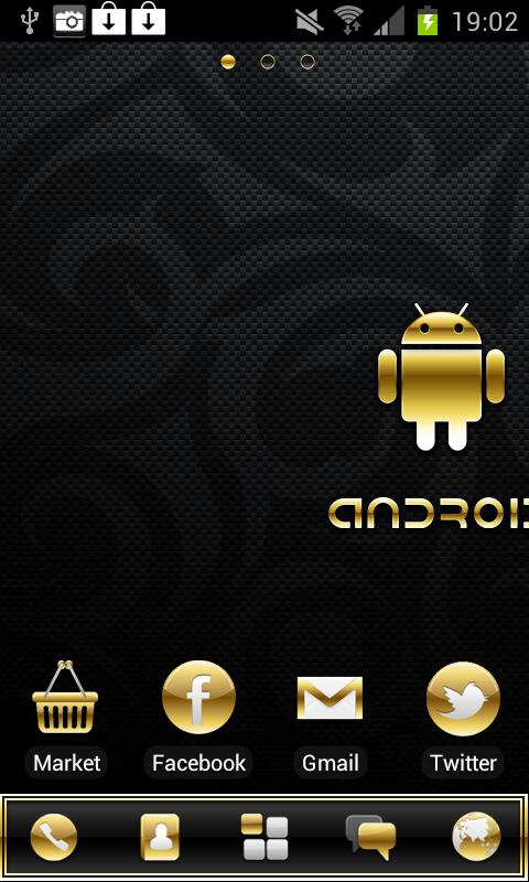 Gold Droid PRO GO Launcher EX - screenshot