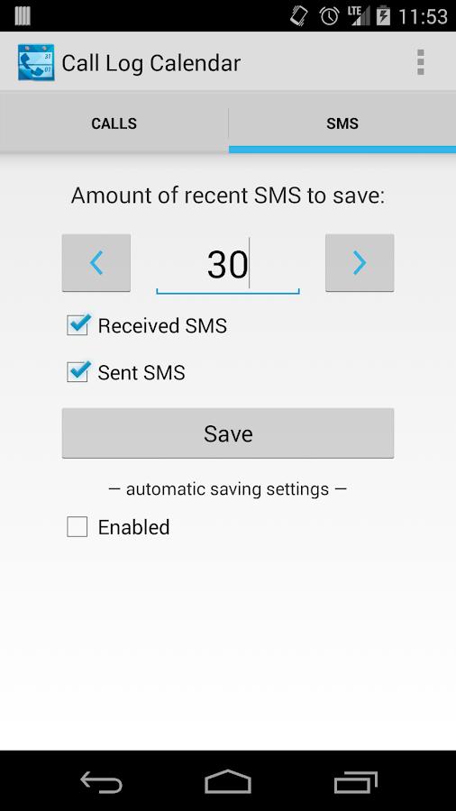Call Log Calendar (Free/Trial) - screenshot